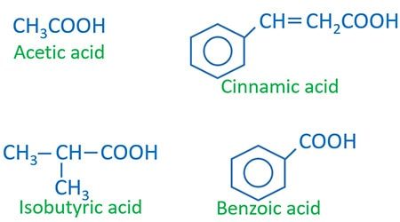 Carboxylic acids preparing, reactions, physical properties